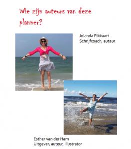 De auteurs van de Boekplanner Jolanda Pikkaart & Esther van der Ham